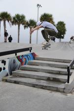 Kickflip at The Boardr Am at Tampa Bay