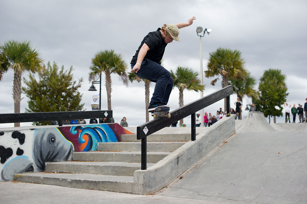 Fakie Smith Grind at The Boardr Am at Tampa Bay