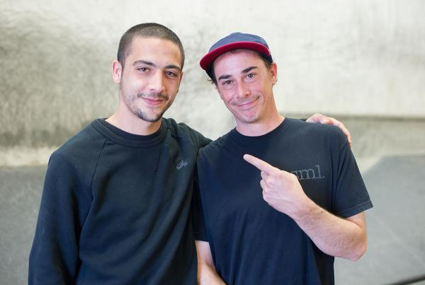 Youness and James Craig at The Berrics