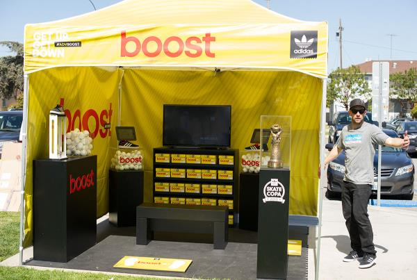 The Boost Tent at adidas Skate Copa LA