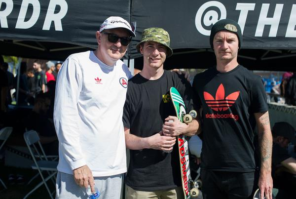 Skin Phillips, Jake Donelly, Jack Fardell at adidas Skate Copa LA