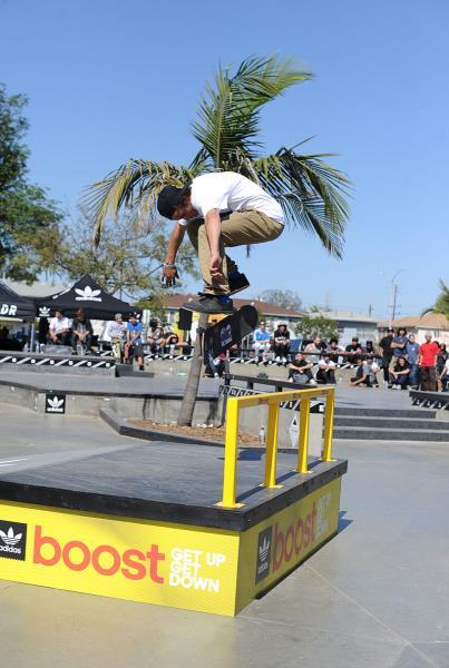 Chris Nollie Back Heel at adidas Skate Copa LA