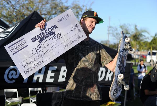 Chris Troy Way Back at adidas Skate Copa LA
