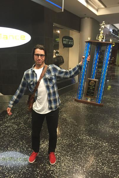 Leo Romero with the Tampa Bro 2015 Trophy