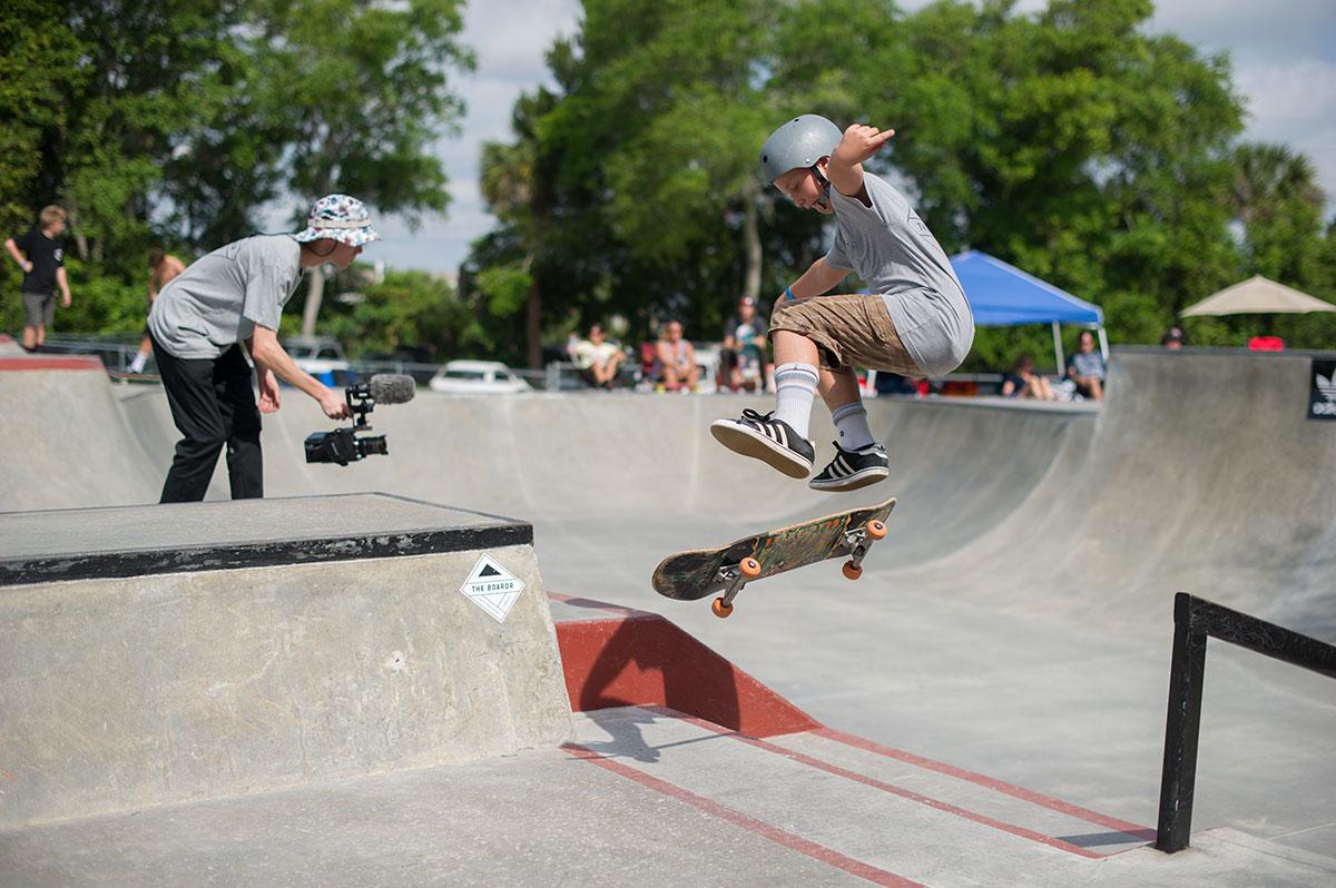Harry Kickflipping at GFL New Smyrna