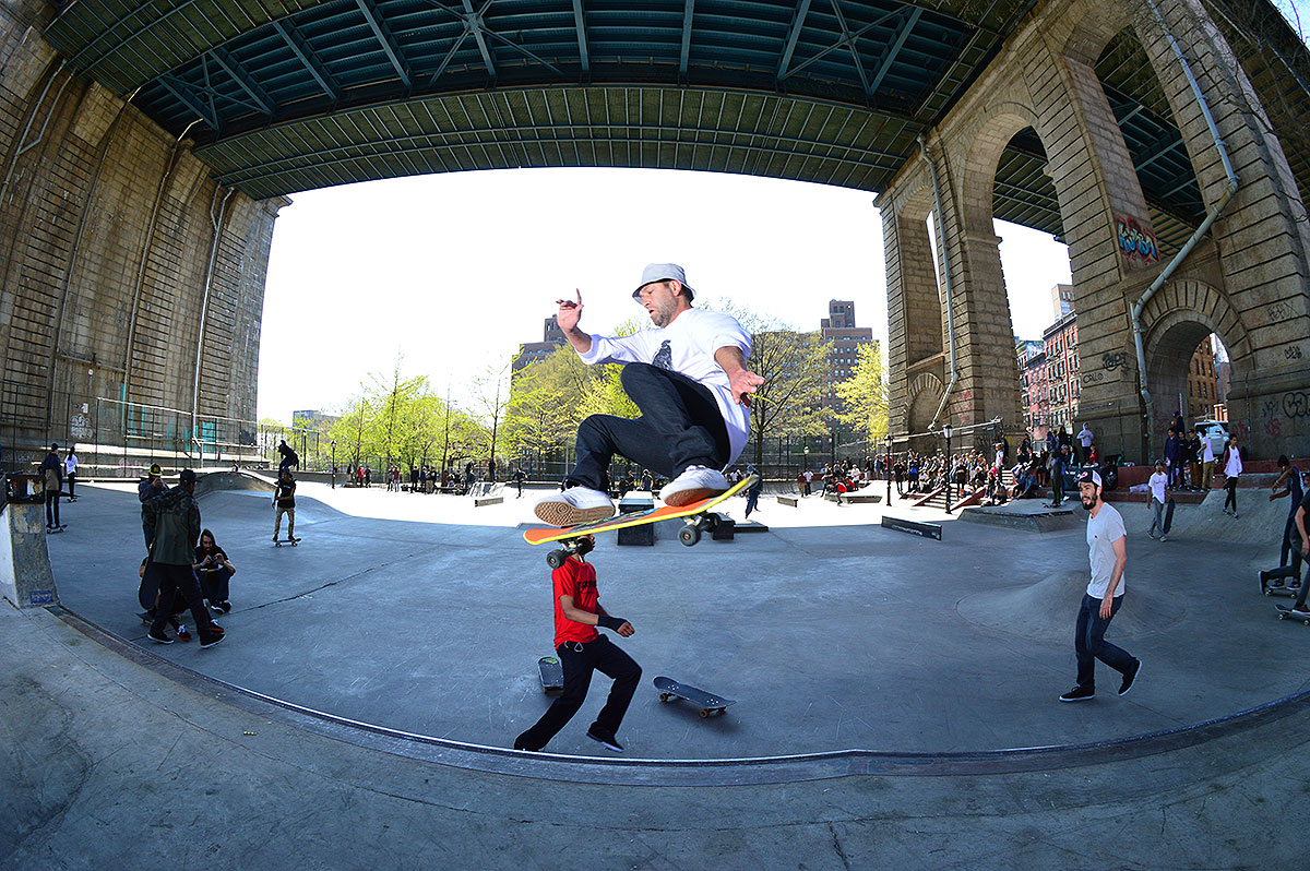 Mark Gonzales Frontside Ollie at The Boardr Am NYC 2015