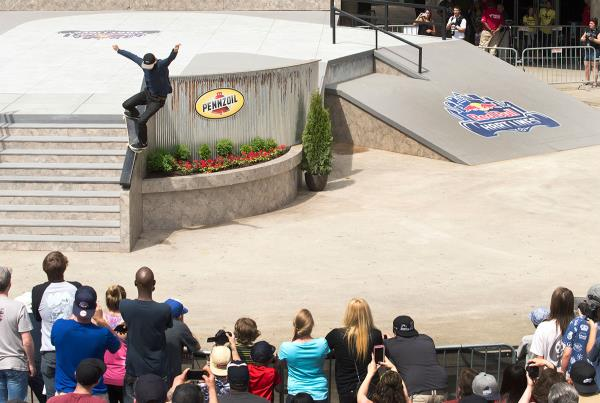 Curren Gap to Nosegrind at Red Bull Hart Lines Detroit 2015