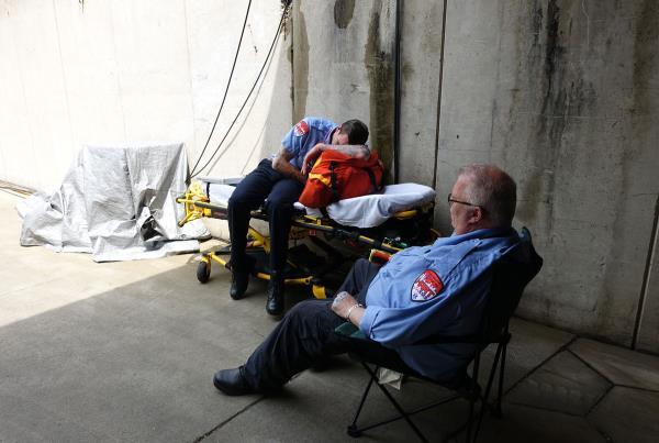 Paramedics at Hart Lines Detroit 2015