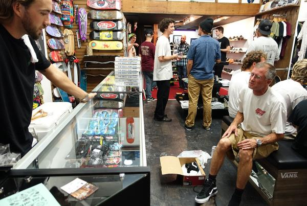 Old Skateboarders at the Gainesville Store Grand Opening