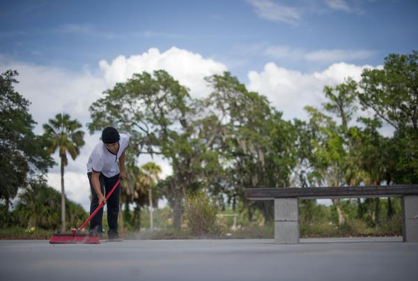 Cleanup Levi's and Hellaclips DIY Tampa Skateboarding Spot Delivery