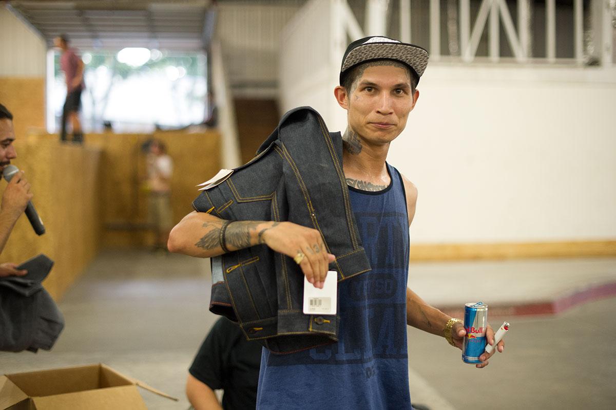Robby at Levi's Bank to Ledge Skateboarding Spot