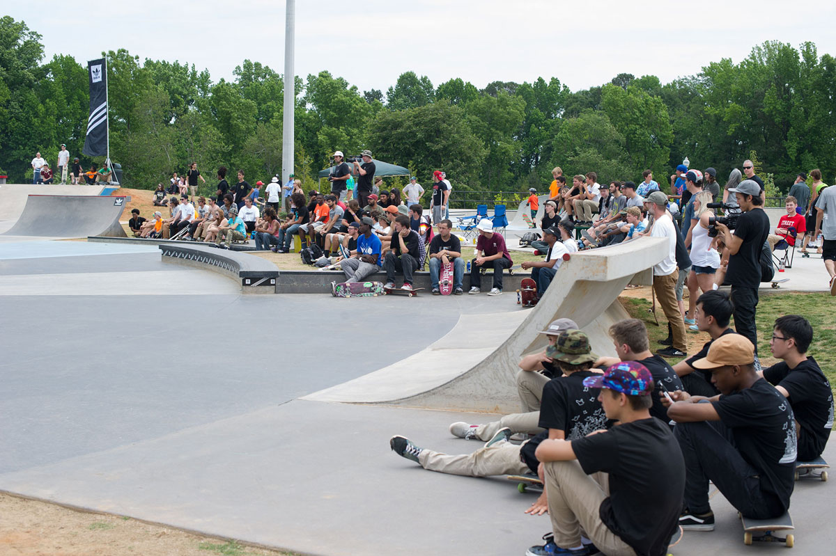 Crews and Crowd at adidas Skate Copa at Altanta