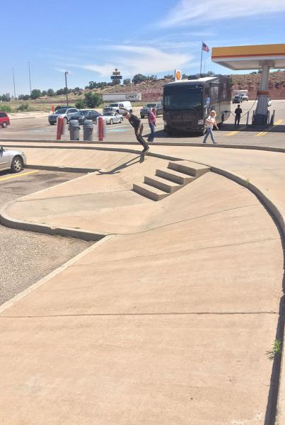 Skate Spot at a Rest Stop on the Road to X Games