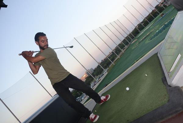 Golfing at X Games 2015