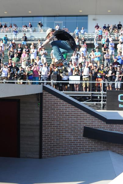 Dustin Back 360 at The Boardr Am Finals at X Games 2015