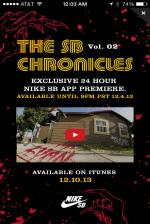 Nike SB In-App Chronicles 2 Premiere