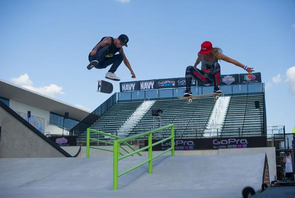 Nyjah Huston and Leticia Bufoni at X Games 2015