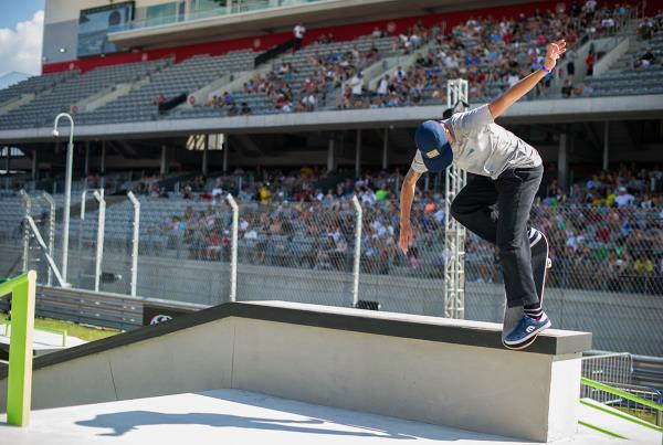 Axel at The Boardr Am Series Finals at X Games 2015