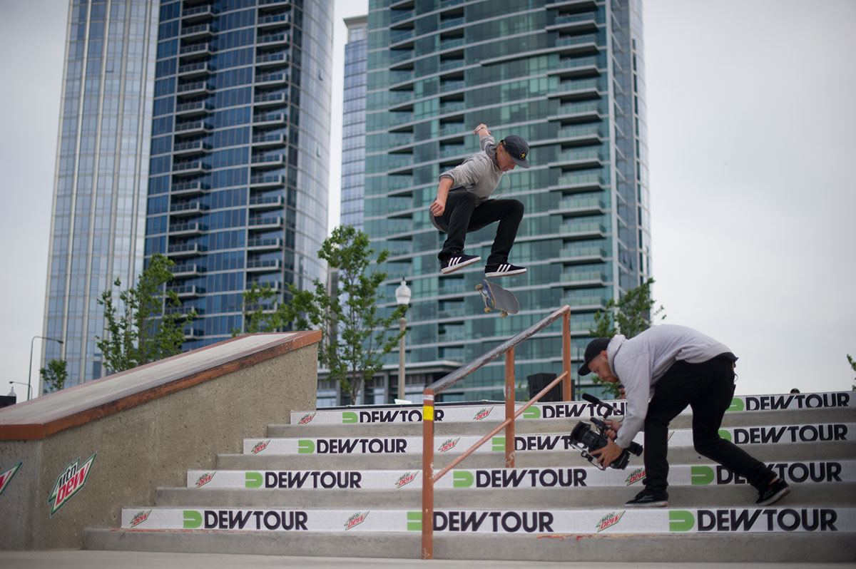 Kickflip Frontside 50-50 at Dew Tour Chicago