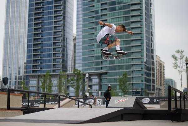 Cody Switch Backside Shifty Flip at Dew Tour Chicago