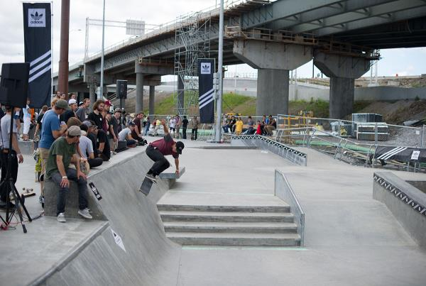 Kickflip Wallride at adidas Skate Copa Louisville