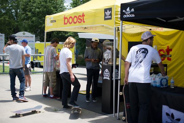 Boost Tent at adidas Skate Copa Louisville