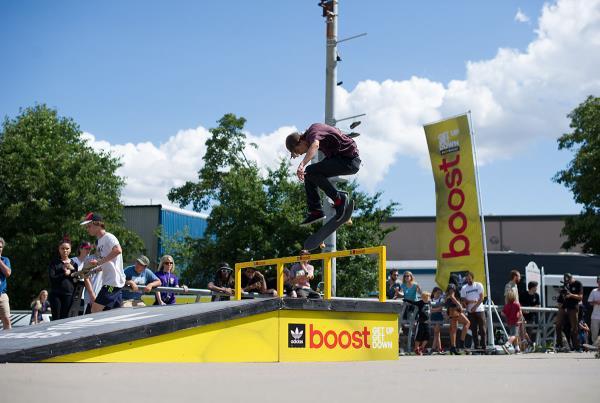 Backside flip at adidas Skate Copa Louisville