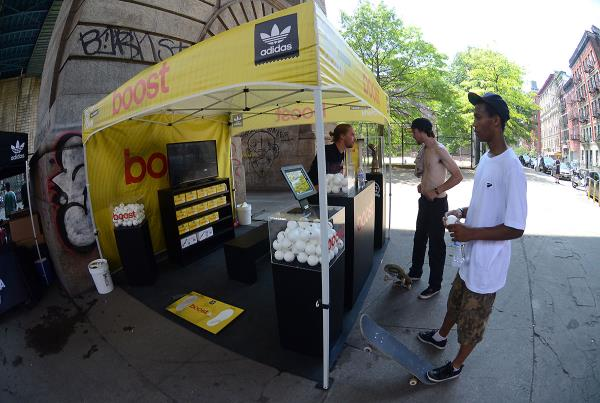 Boost Booth at adidas Skate Copa NYC