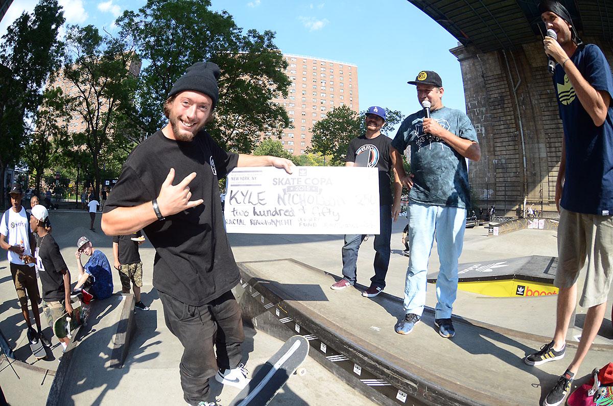 Kyle's Award at adidas Skate Copa NYC