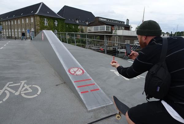No Skateboarding Sign at Copenhagen Open 2015