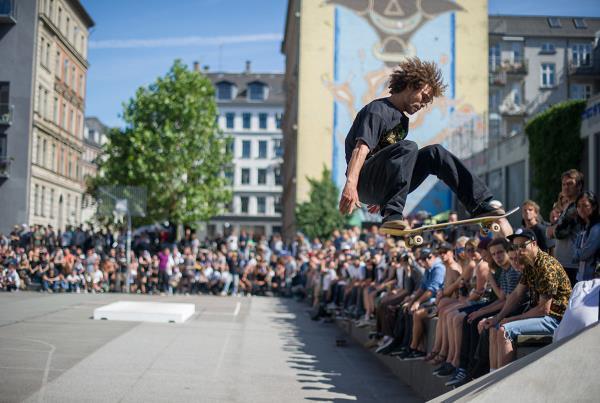 Nassim on a Frontside 360 at Copenhagen Open 2015