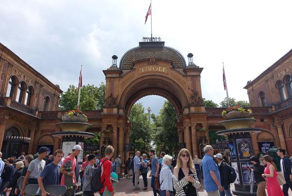 Entrance at Tivoli at Copenhagen Open 2015