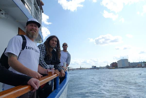 Gabe and Vern on a Boat at Copenhagen Open 2015