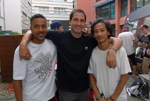 Benny, Tim, and Lem at adidas Skate Copa at Berlin