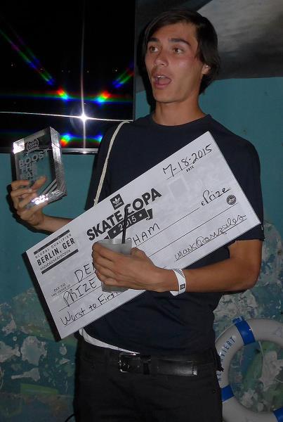 Denny Boosts at adidas Skate Copa at Berlin