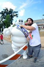 Scotty had a little help on the mic from the Michelin Man himself.