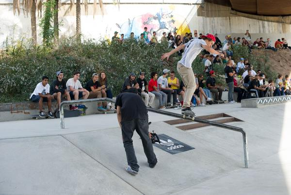 Boardslide at adidas Skate Copa Barcelona 2015