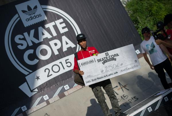 Felipe Award at adidas Skate Copa Barcelona 2015