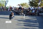Carlos Henrique, no stranger of the LA skate scene, came back to Brazil to hold it down for Matriz Skate Shop. Here is a nollie flip boardslide on the rail.