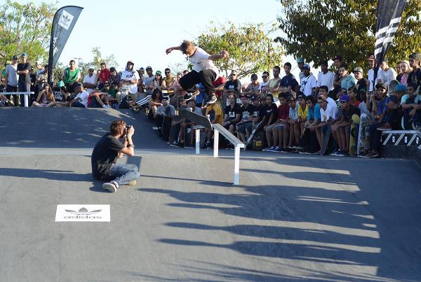 Nollieflip Boardslide at adidas Skate Copa at Sao Paulo