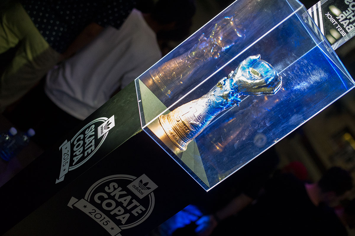 Trophy at adidas Skate Copa Global Finals 2015
