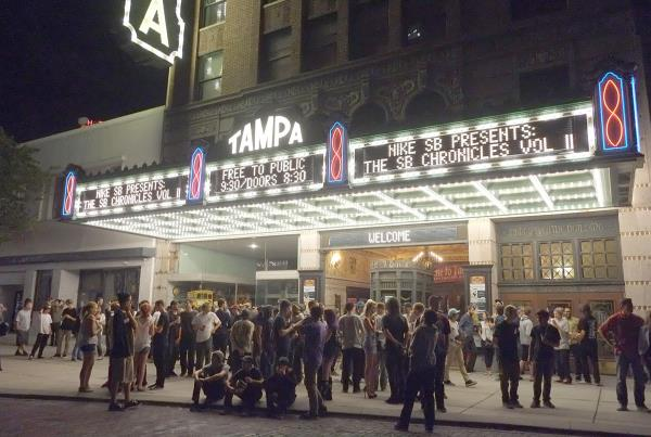 Nike SB Chronicles 2 Premiere Tampa Theater Out Front