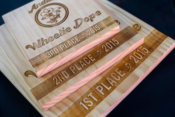 Trophies at Wheelie Dope 2015