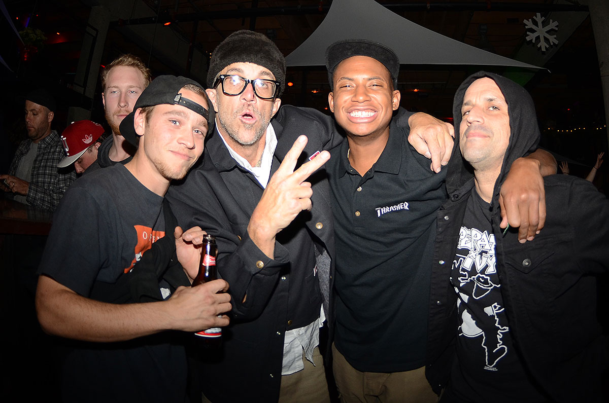 Ishod Wair is All Smiles at the Thrasher SOTY Party