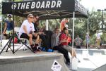 All the #BoardrBoys under one tent trying to keep cool on this hot November day.