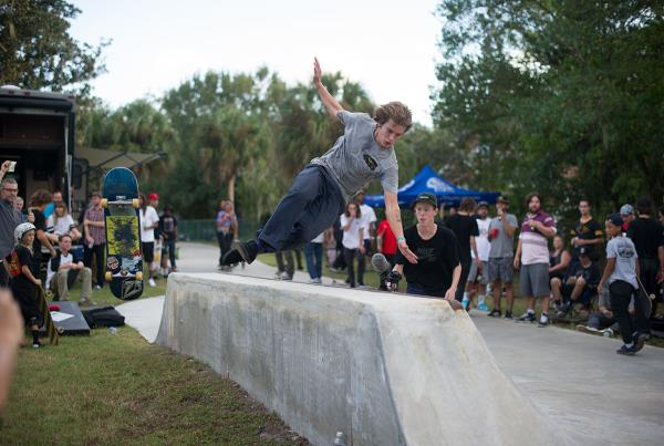 Slide Out at The Boardr BBQ at the Dream_Driveway