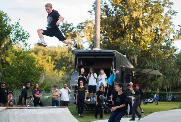 RV Jump at The Boardr BBQ at the Dream_Driveway