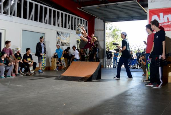 Backflip at the Grind for Life 2015 Annual Awards