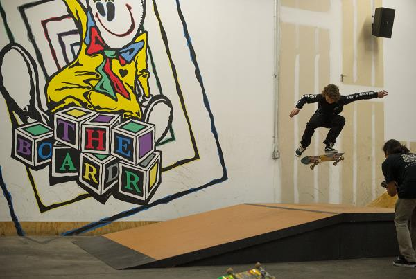 Austin Weinel Kickflips at Open House Saturdays