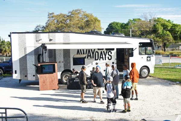 GFL at New Smyrna - Freshly Wrapped Boardr Bus
